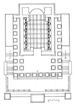 Temple of Venus Genetrix (plan), Forum of Caesar