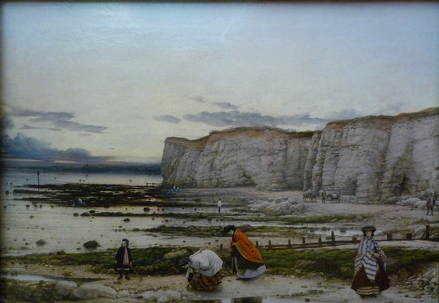 William Dyce, Pegwell Bay, Kent - a Recollection of October 5th, 1858, 1858-60, oil on canvas, 63.5 x 88.9 cm (Tate Britain, London)