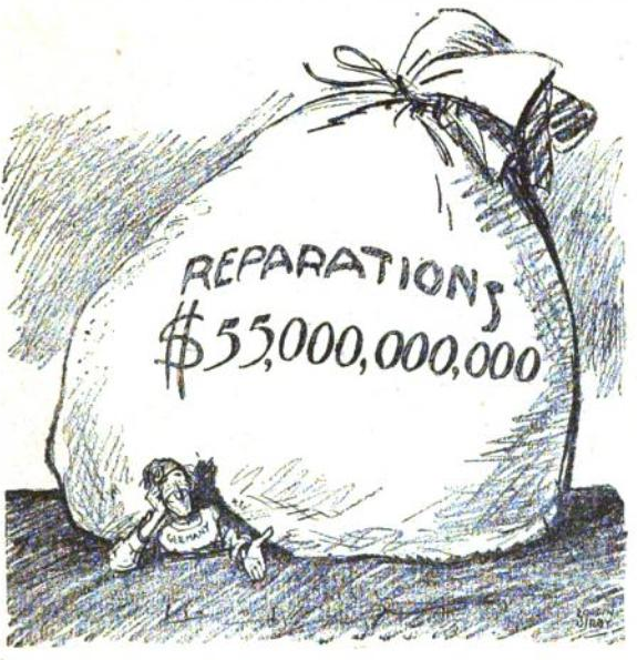 the treaty of versailles article khan academy cartoon showing crushed by the giant reparations demanded by the treaty of versailles