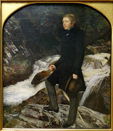John Everett Millais, Portrait of John Ruskin, 1853-4, oil on canvas, 78.7 x 68 cm (Ashmolean Museum, Oxford)