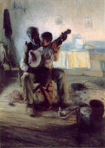 Henry Ossawa Tanner, The Banjo Lesson, 1893, oil on canvas, 124.5 × 90.2 cm (Hampton University Museum, Hampton, VA)