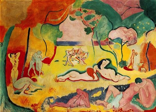 Henri Matisse, Bonheur de Vivre, 1906, oil on canvas, 175 x 241 cm (The Barnes Foundation, Philadelphia)