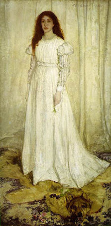 James McNeill Whistler, Symphony in White, No. 1: The White Girl, 1862, oil on canvas, 213 x 107.9 cm (National Gallery of Art, Washington, D.C.)