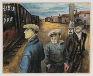 Ben Shahn, Scotts Run, West Virginia, 1937, tempera on paper, 22 5/8 × 28 1/4 inches, 57.5 x 71.8 cm (Whitney Museum of American Art)
