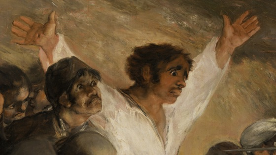 Detail, Francisco Goya, The Third of May, 1808, 1814-15, oil on canvas, (Museo del Prado, Madrid)
