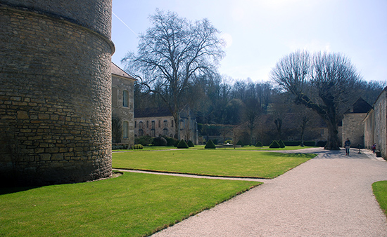 Inside the walls, Fontenay Abbey, 12th century