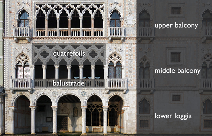 Ca' d'Oro façade diagram