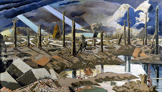 Paul Nash, The Menin Road, 1919, oil on canvas, 182.8 x 317.5 cm (Imperial War Museum, London)