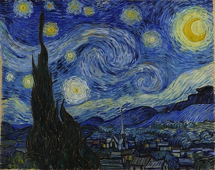 Vincent van Gogh, The Starry Night, 1889, oil on canvas, 73.7 x 92.1 cm (The Museum of Modern Art)