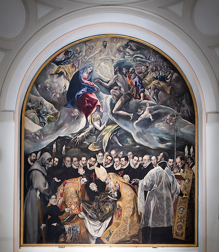 El Greco, Burial of the Count of Orgaz, 1586–88, oil on canvas, 480 x 360 cm (Santo Tomé, Toledo, Spain)