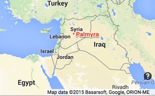 Location of Palmyra within Syria