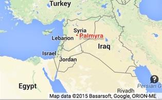 Location of Palmyra within Syria