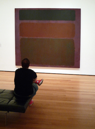 "Mark Rothko, No. 16 (Red, Brown, and Black), 1958. oil on canvas, 8' 10 5/8"" x 9' 9 1/4"" (The Museum of Modern Art) (photo: Steven Zucker, CC BY-NC-SA 2.0)"