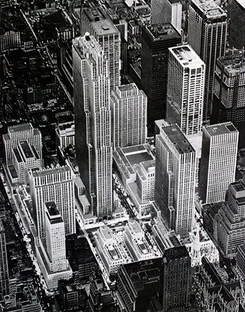 Aerial view of Rockefeller Center