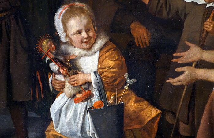 Daughter (detail), Jan Havicksz Steen, The Feast of St Nicholas, 1665-68, oil on canvas, 82 × 70.5 cm (Rijksmuseum)
