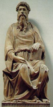 Donatello, St. John, c. 1408-15, marble (Museo dell'Opera del Duomo, Florence)