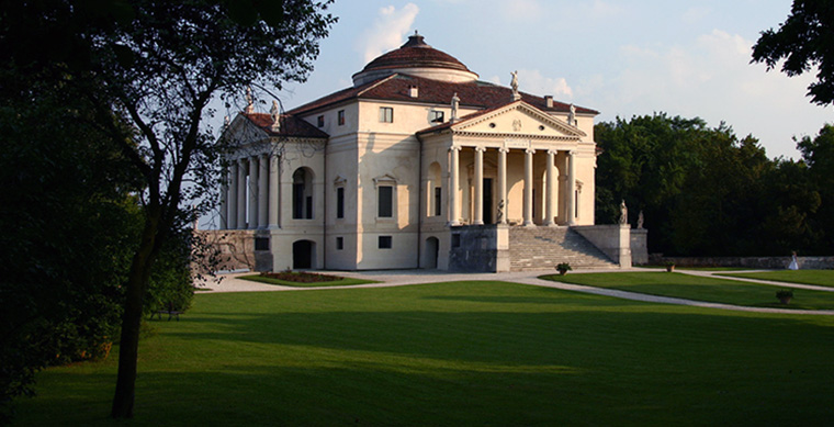 Andrea Palladio with modifications by Vicenzo Scamozzi, Villa Rotonda (formerly Villa Capra), 1566-1590s, near Vicenza, Italy (photo: Nico Brooks)