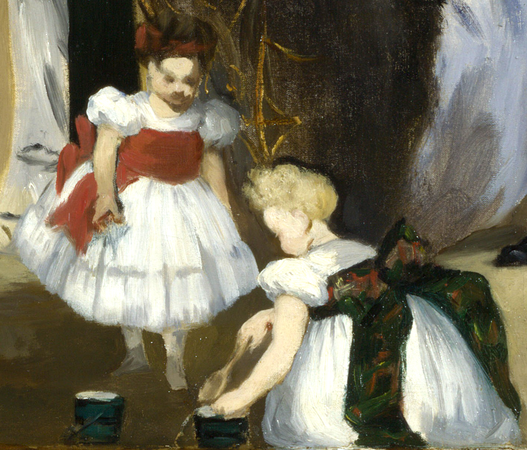 Children (detail), Édouard Manet, Music in the Tuileries Gardens, 1862, oil on canvas, 76.2 x 118.1 cm (The National Gallery, London)