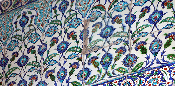 View of Iznik tiles