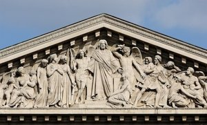 Henri Lemaire, Last Judgment pediment, Church of La Madeleine, 1829-42, Place de la Madeleine (Paris)