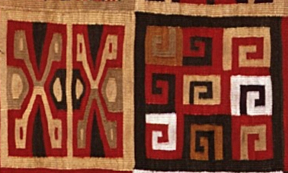 Detail, All-T'oqapu Tunic, Inka, 1450–1540, camelid fiber and cotton, 90.2 x 77.15 cm (Dumbarton Oaks, Washington D.C.)