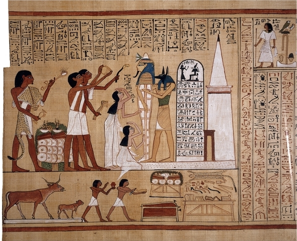 Page from the Book of the Dead of Hunefer, c. 1275 B.C.E., 45.7 x 83.4 cm (frame), Thebes, Egypt © Trustees of the British Museum
