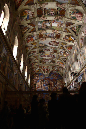 Michelangelo, Ceiling of the Sistine Chapel, 1508-1512, fresco (Vatican City, Rome) (photo: Scott Sherrill-Mix, CC BY-NC 2.0)