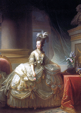 Élisabeth Louise Vigée-LeBrun, Archduchess Marie Antoinette, Queen of France, 1778, oil on canvas, 273 x 193.5 cm (Kunsthistorisches Museum, Vienna)