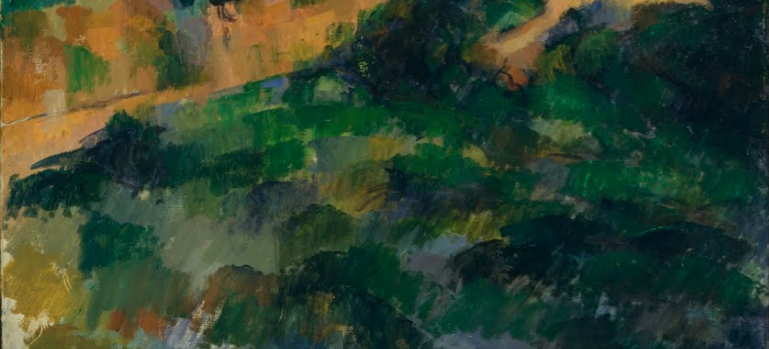 Detail, Paul Cézanne, Turning Road at Montgeroult, 1898, oil on canvas, 81.3 x 65.7 cm (Museum of Modern Art, New York)