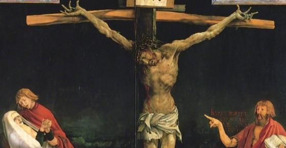 Crucifixion (detail), Matthias Grünewald, Isenheim Altarpiece, 1510-15