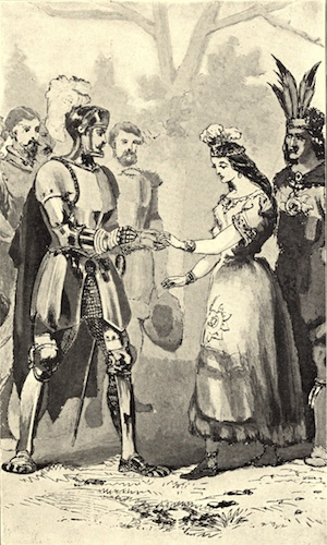 """Balboa and the Indian Princess,"" 1906, in Frederick A., Ober, Vasco Nuñez de Balboa(New York, Harper, 1906), p. 68"
