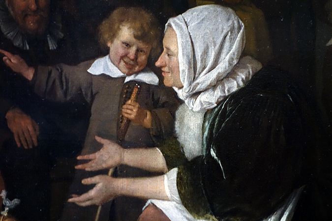 Mother (detail), Jan Havicksz Steen, The Feast of St Nicholas, 1665-68, oil on canvas, 82 × 70.5 cm (Rijksmuseum)