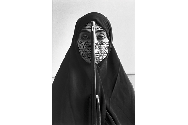 Shirin Neshat, Rebellious Silence, Women of Allah series, 1994, B&W RC print & ink, photo by Cynthia Preston ©Shirin Neshat, courtesy Barbara Gladstone Gallery, New York and Brussels