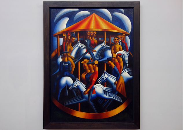 Mark Gertler, Merry-Go-Round, 1916,oil on canvas, 189.2 x 142.2 cm (Tate)
