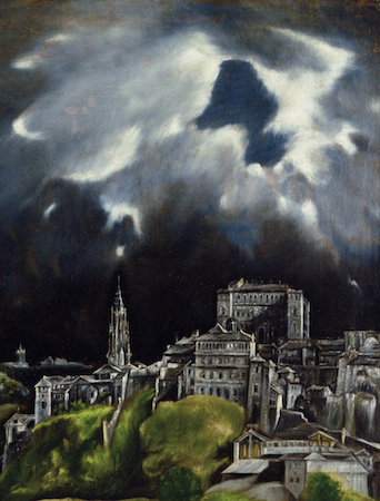 El Greco, View of Toledo, 1596-1600 (detail)
