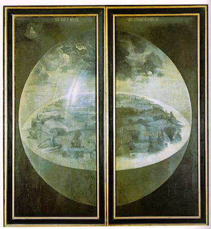 Hieronymus Bosch, The Garden of Earthly Delights (outer panels), c. 1480-1505, oil on panel, 220 x 390 cm (Prado, Madrid)