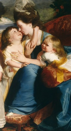 Mother and children (detail), John Singleton Copley, The Copley Family, 1776-77, oil on canvas, 89 x 107 (National Gallery, Washington, D.C.)