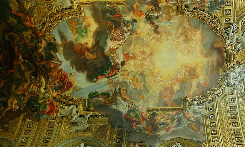 Giovanni Battista Gaulli, also known as il Baciccio, <em>The Triumph of the Name of Jesus</em>, 1672-1685, Il Gesù ceiling fresco (Rome, Italy)