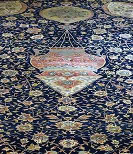 Detail of lamp, Ardabil Carpet