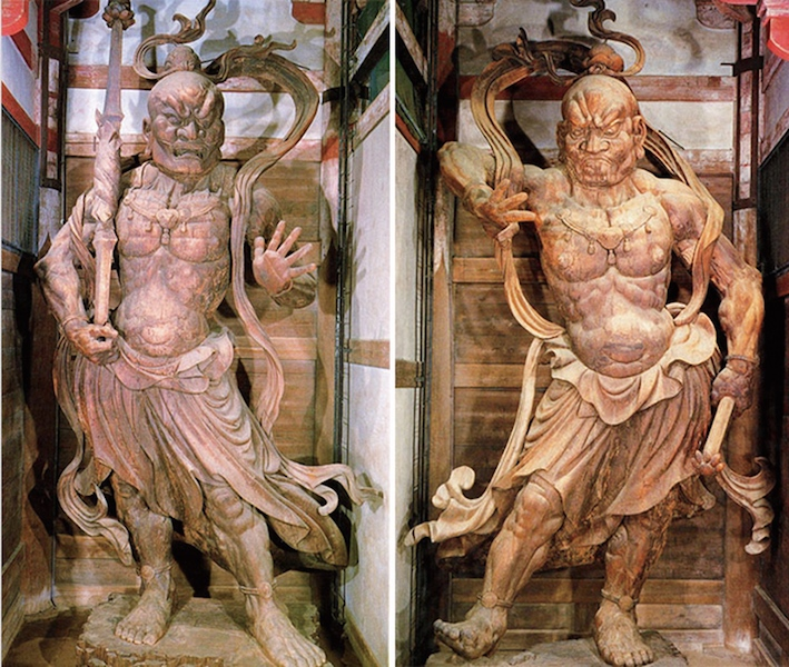 Left: Ungyō, right: Agyō, both c. 1203, Nandaimon (Great South Gate), Todaiji, Nara, Japan (Asahi Shimbun file photo)