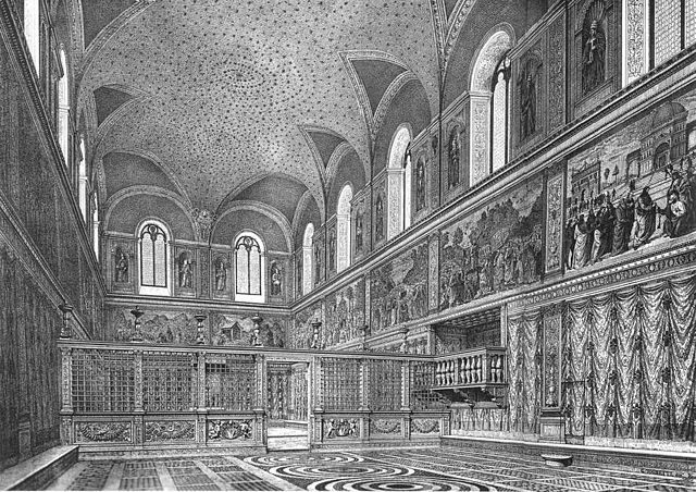 Reconstruction of the Sistine Chapel prior to Michelangelo's frescoes (photo: public domain)