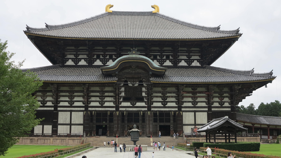 Daibutsuden (Great Buddha Hall), Todaiji, Nara, Japan, 743, rebuilt. c. 1700 (photo: author, CC BY-NC-SA 2.0)