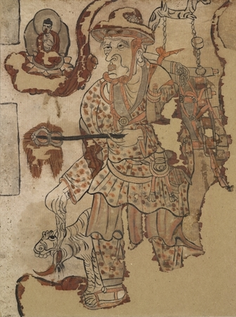 The paintings and manuscripts from cave 17 at mogao 1 of for Dynasty mural works