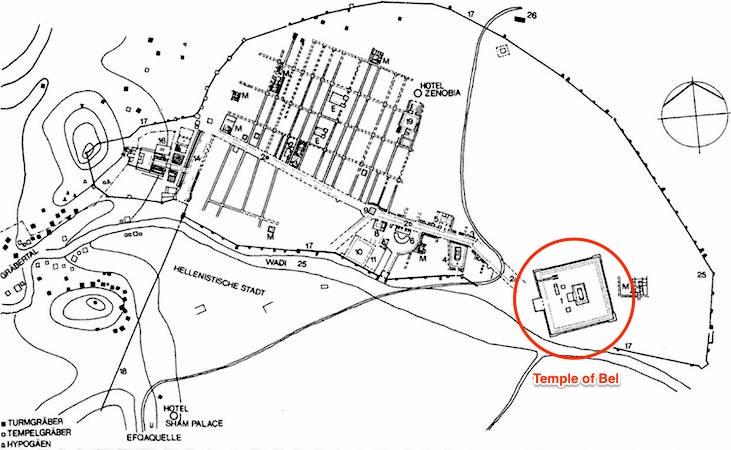 Plan of the site of Palmyra