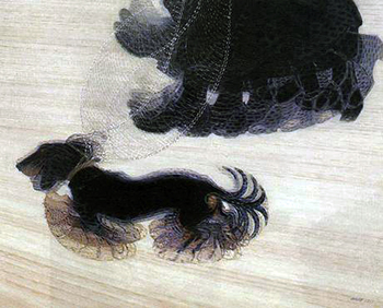 Giacomo Balla, Dinamismo di un Cane al Guinzaglio, 1912, oil on canvas, 95.57 x 115.57 x 6.67 cm (Albright-Knox Art Gallery, New York)