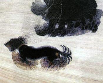 Giacomo Balla, Dinamismo di un Cane al Guinzaglio, 1912, oil on canvas, 95.57 x 115.57 x 6.67 cm (Albright-Knox Art Gallery, New York)