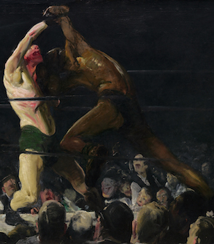 Boxers (detail), Both Members of This Club, 1909, oil on canvas, 115 x 160.5 cm (National Gallery of Art, Washington D.C.)