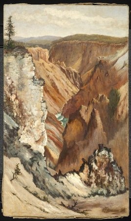 Grafton Tyler Brown, View of Yosemite Valley, 1886, oil on canvas, 29 3/4 x 17 1/2 inches / 75.6 x 44.5 cm (Brooklyn Museum of Art)