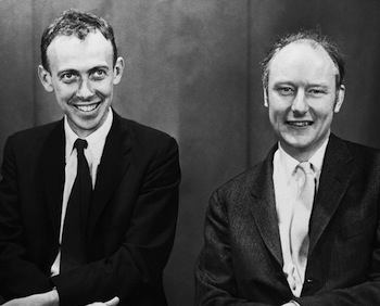 James Watson and Francis Crick in 1959 © Bettmann/CORBIS