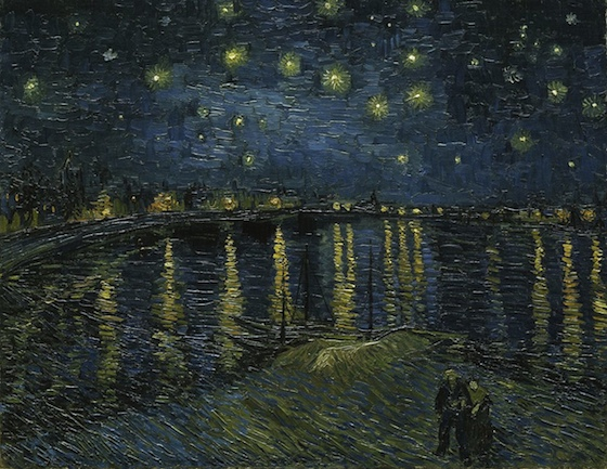 Vincent van Gogh, Starry Night over the Rhone, 1888, oil on canvas, 72 x 92 cm (Musée d'Orsay)